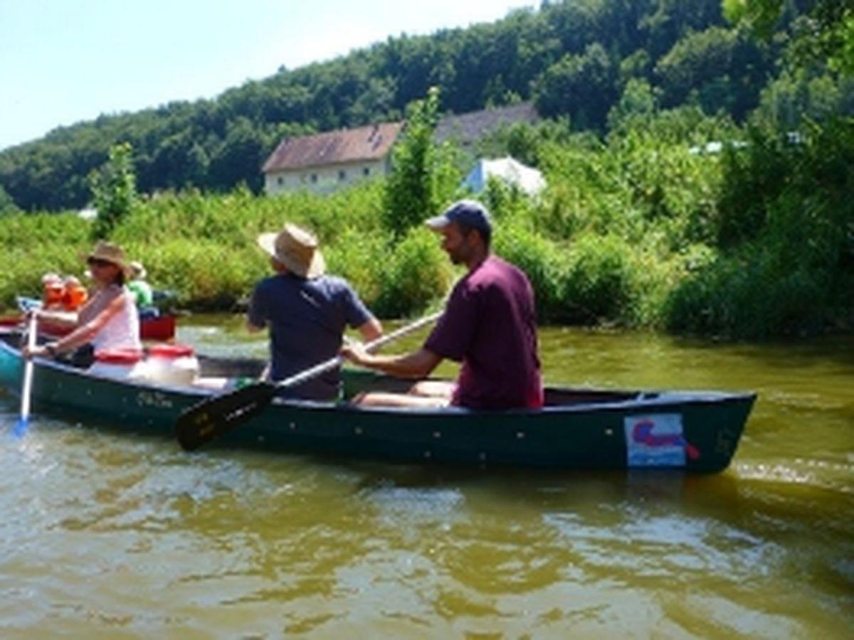 Bootsfahrt Altmühl 2014